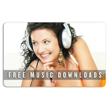 Download Music Gift Cards - full color music download promotional gift card 1 song epromos