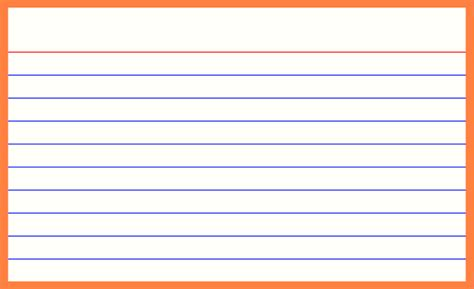 template for 5x8 card printable index cards printable index cards template