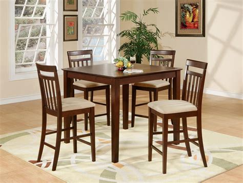7 Pc Dining Room Set 5pc square pub counter height dining table amp 4 padded