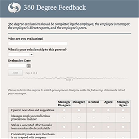 Formcentral Template Exchange 360 Degree Feedback 360 Feedback Template