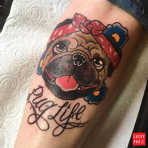 tattoo parlour newmarket color pug tattoos on legs part 2 pug tattoo gallery