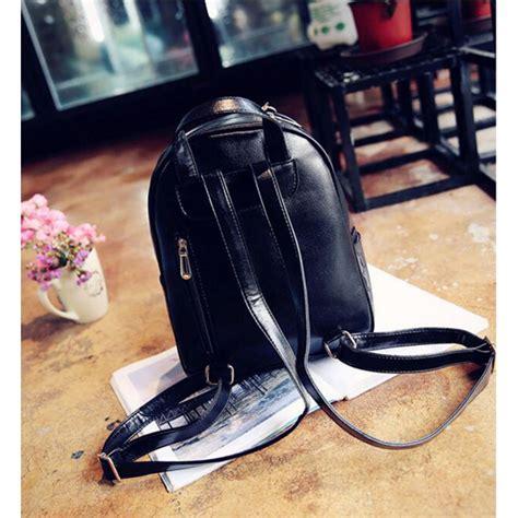 Tas Ransel Wanita Fashion Backpack Hitam tas ransel fashion wanita bag in bag 4 in 1 beige jakartanotebook