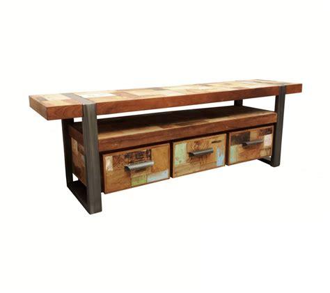 lowboard industriedesign tv schrank industriedesign lowboard metall holz l 228 nge 160 cm
