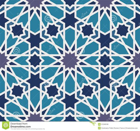 pattern blue and grey arabesque seamless pattern in blue and grey royalty free