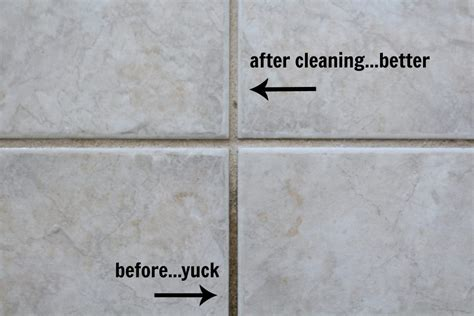 Grout Cleaning Before And After How To Make Your Tile Floor Look Like New Again Frazzled