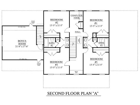 Traditional Colonial House Plans House Plan 3120 C Pendleton Second Floor Traditional Brick Colonial Design With Large Family