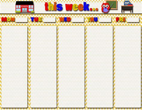 printable weekly calendar for students my fashionable designs free printables teacher and
