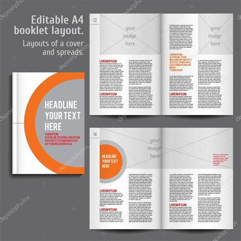 Booklet Layout Design Download   a4 booklet layout design template with cover stock