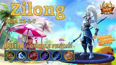 tutorial mobile legend zilong mobile legends zilong savage double penta youtube
