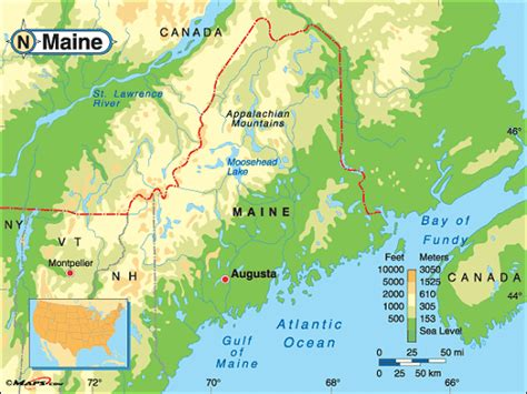 usa map states maine maine map and maine satellite image
