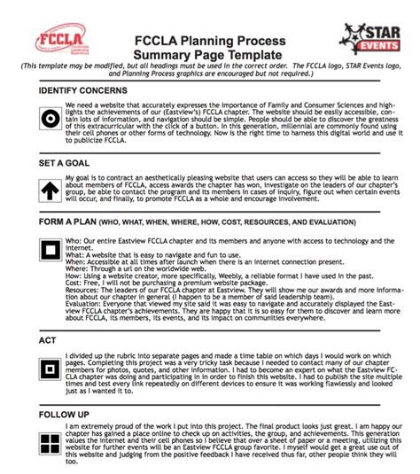 fccla planning process worksheet worksheets for school jplew