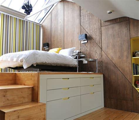Bett Kleines Zimmer by Bett Stauraum Praktisches Kleines Zimmer