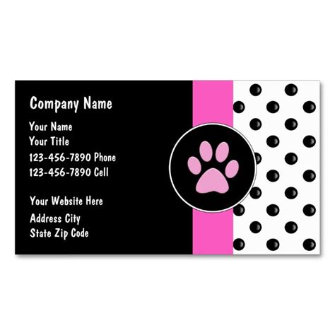 caign cards template top 25 ideas about animal pet care business card templates