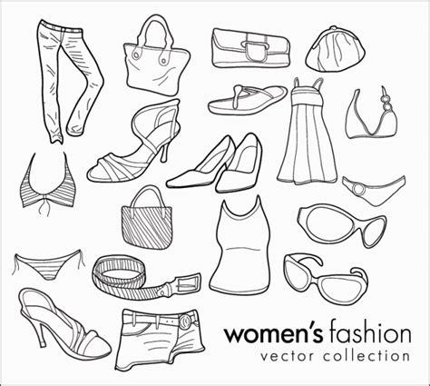 doodle design draw fashion 手書きが可愛い女子のファッションに関するガーリーな無料ベクタークリップアート素材 all free clipart