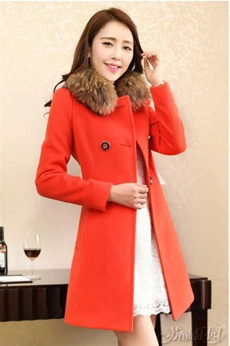 Bulu Korea jaket bulu korea orange modern fur coat jyy468