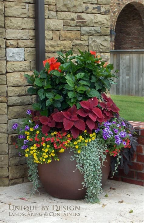 Flower Ideas For Planters by 8 Stunning Container Gardening Ideas Home And Garden