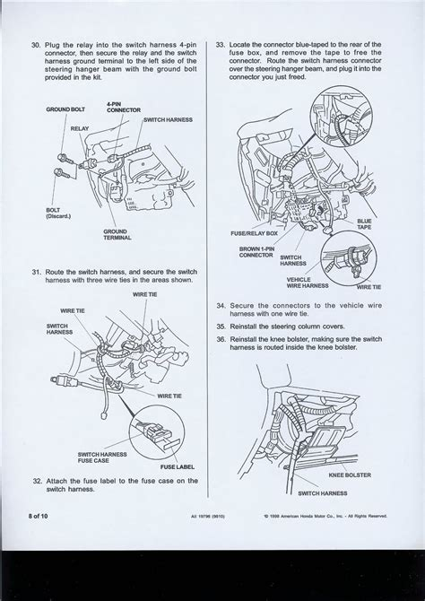 honda civic lighting wiring diagram wiring diagrams