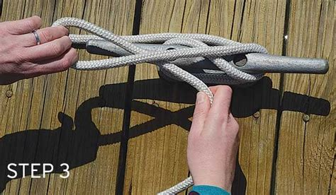 boat dock cleat knot tying up at the dock boatus magazine