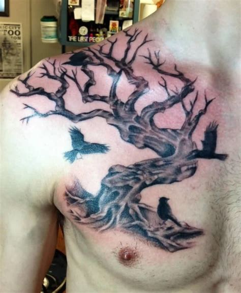 chest tattoo tree tree tattoos for men chest www pixshark com images