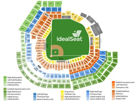 busch stadium section map busch stadium seating chart