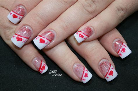 nail design ideas for valentines day nail