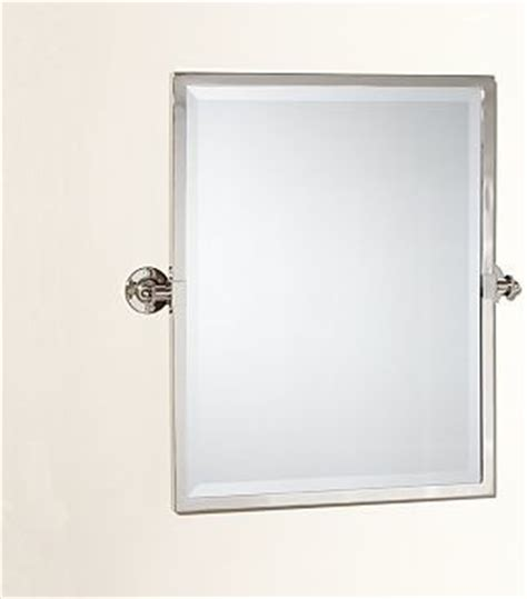 kensington pivot mirror rectangle polished nickel finish