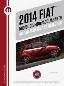 Abarth Accessories Catalogue Fiat 500 And 500 Abarth 2014 Accessories Catalog