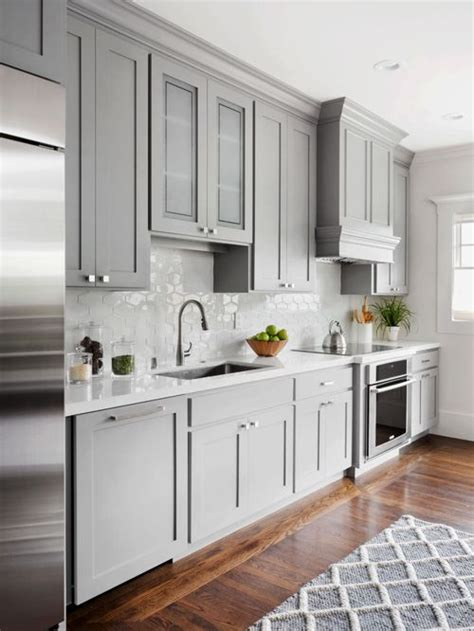 white cabinets with stainless steel countertops