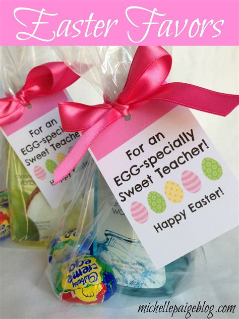 Easter Giveaways - michelle paige blogs easter favors for teachers friends and family