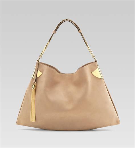 leather handbag beige gucci gucci 1970 medium shoulder bag beige nubuck