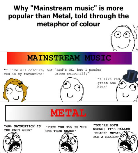 this is why metal is this is why quot mainstream quot is more popular than metal