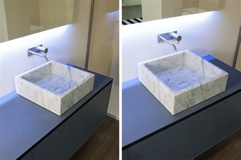 top mount bathroom sinks blokko top mount sink modern bathroom sinks miami