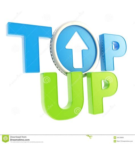 Free Up by Top Up Emblem Icon With Up Arrow Coin Stock Illustration