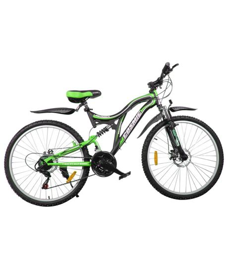 green cycling cosmic voyager 21 speed mtb bicycle black green premium