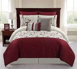 8 embroidered comforter set