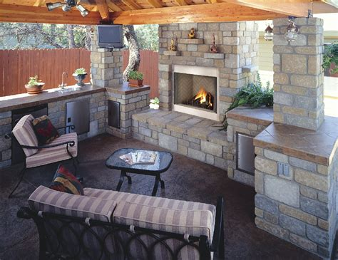 Patio Fireplace Designs Top 21 Designs For The Outdoor Fireplace Qnud