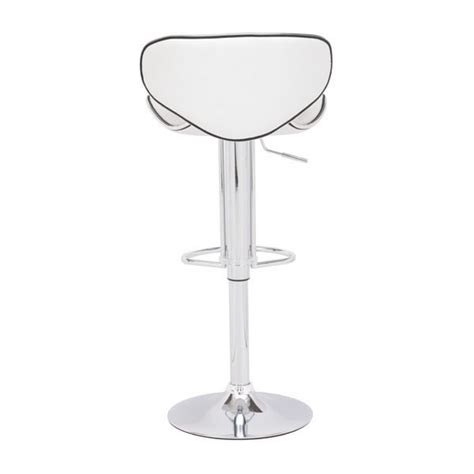 fly bar stool zuo modern fly adjustable height bar stool white 300131 modern furniture canada