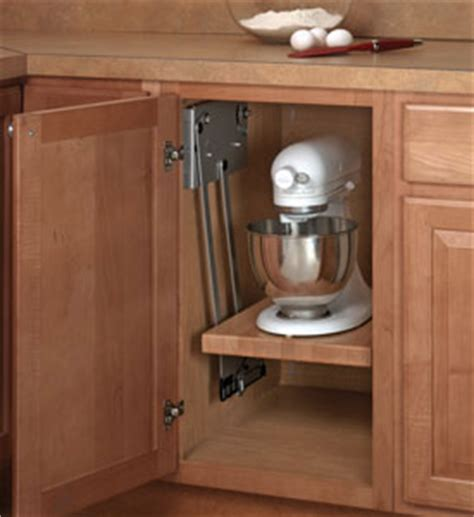 kitchen cabinet appliance lift hardware in pull out