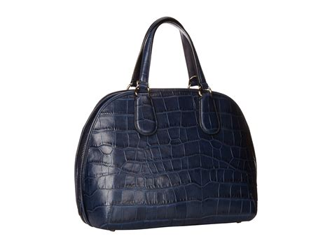 Coach Emboss lyst coach embossed croc prince satchel in blue