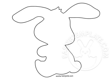 easter rabbit template free easter rabbit silhouette easter template