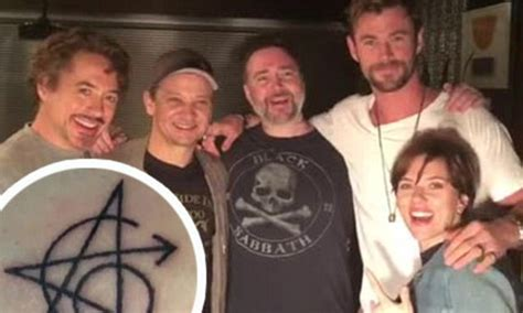 robert downey jr tattoo avengers robert downey jr reveals the tattoo that now links five