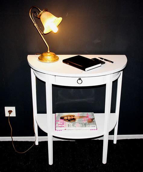 massivholz konsolentisch telefontisch wandkonsole halbrund