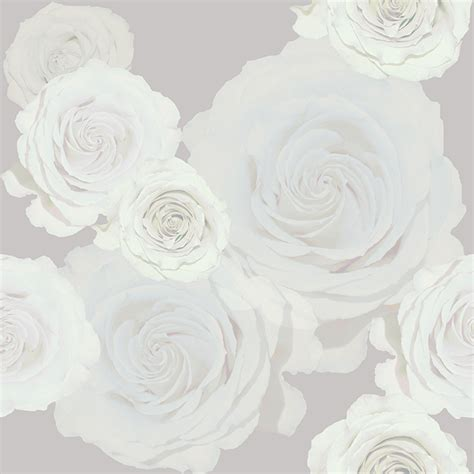 Home Interior Color Design by White Roses Wallpaper Brett Design Inc Interior Design