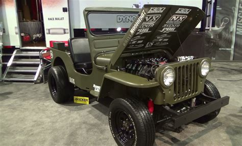 willys jeep lsx 1952 willys lsx sema 2014