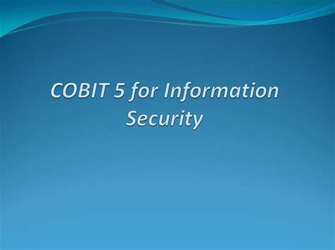 Doctorate In Security 5 by Cobit Information Security An Introduction Tanvir Orakzai