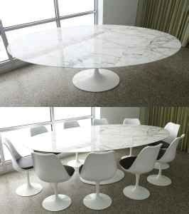 saarinen large dining table marble carrera oval bauhaus uk love  furniture