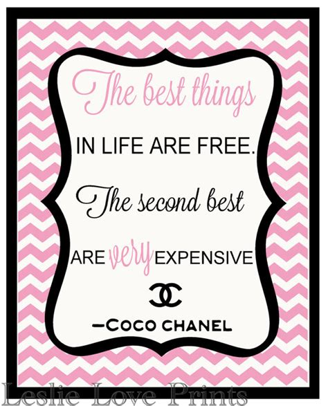 items similar to coco chanel quote printable quote items similar to cute coco chanel quote 8x10 printable