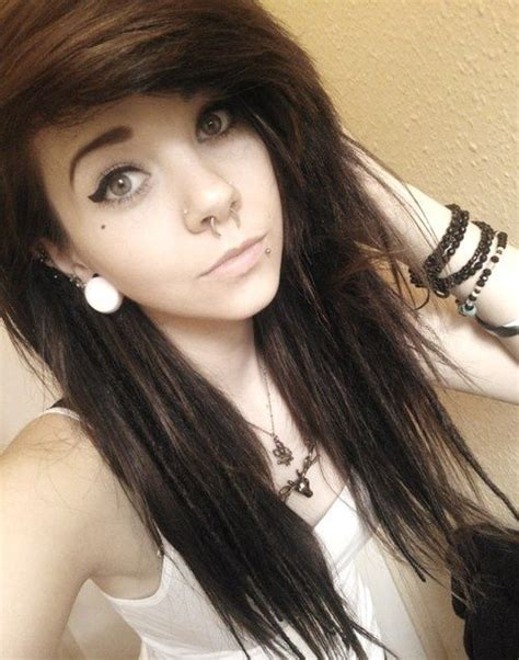 emo hairstyles brown hair 137 best cool hair i like images on pinterest