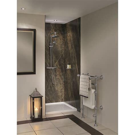 bathroom board bushboard nuance recess shower board pack 1200mm uk bathrooms