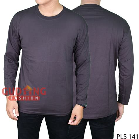 Kaos Is Simple Sz kaos polos simple panjang depan belakang cotton cardet abu tua pls 141 gudang fashion